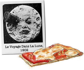 Pizza and moon for pizza recipe