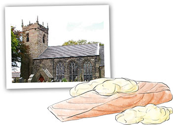 Salmon And Hollandaise illustration and Brindle Church for summer salmon recipe