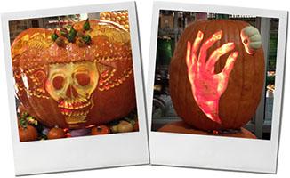 Carved Pumpkin photos for halloween butternut dip recipe