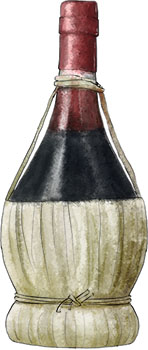 Chianti illustration for chianti and tapas recipes