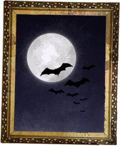 Halloween bats illustration for halloween lamb shank recipe