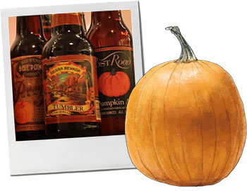 Halloween pumpkin beer for autumn recipes