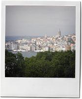 Istanbul skyline for aubergine Imam Bayaldi recipe