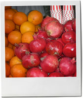 Pomegranates and oranges photo for pomegranate cocktail recipe