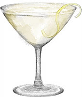 Appletini illustration for cocktail post