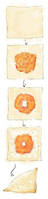Squash Wonton illustration for thanksgiving squash recipe