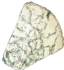 Blue Cheese for Port and cheese illustration