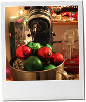Christmas Baubles and KitchenAid