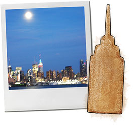 Empire State Gingerbread cookie