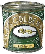 Golden Syrup illustration for Burns night flapjack recipe