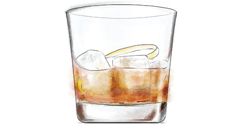 Scotch Mist cocktail illustration for Burns night recipe