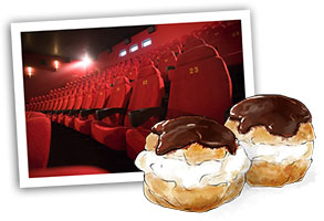 Profiterole and cinema seats for the Oscars