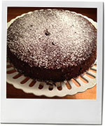 Chocolate syrup cake photo for recipe