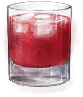 Wild Irish Rose cocktail illustration