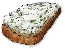 Herbed ricotta bruschetta for homemade ricotta recipe