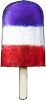 Red White and Blue Ice Pop recipe for jubilee
