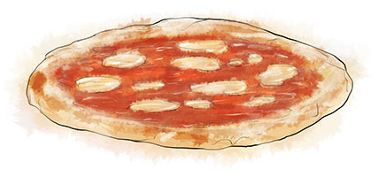 Vodka Pizza illustration for recipe
