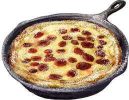 Cherry Clafoutis illustration for recipe