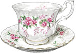 Teacup illustration for jubilee recipes