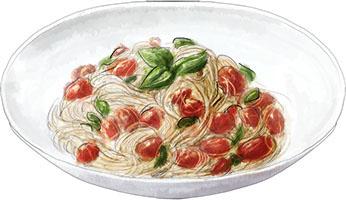 Roasted Provencal tomato pasta