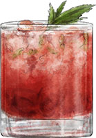 Strawberry Smash cocktail for summer bourbon cocktail recipe