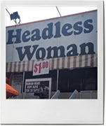 Headless woman