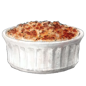 Apple crumble illustration