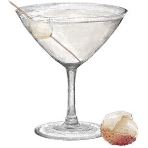 Lychee Martini for sneak like a ninja day
