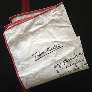 Toffee Cake Tea Towel
