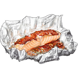 Tomato Salmon en papilotte