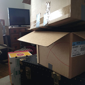 boxes and moving