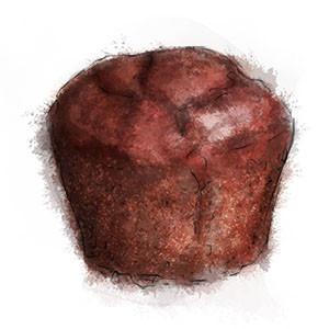 Chocolate Banana Muffin Illustration for muffin recipe